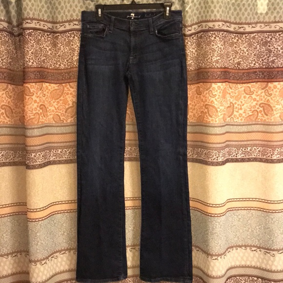 7 For All Mankind Denim - 7 for all mankind indigo bootcut jeans Sz 31